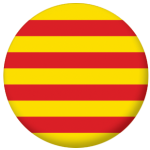 Catalonia Flag 58mm Button Badge.